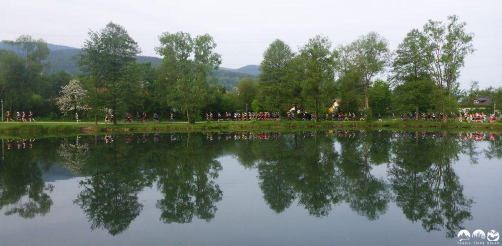 Ehrenrunde zum Start des UTLW im Seepark Arrach