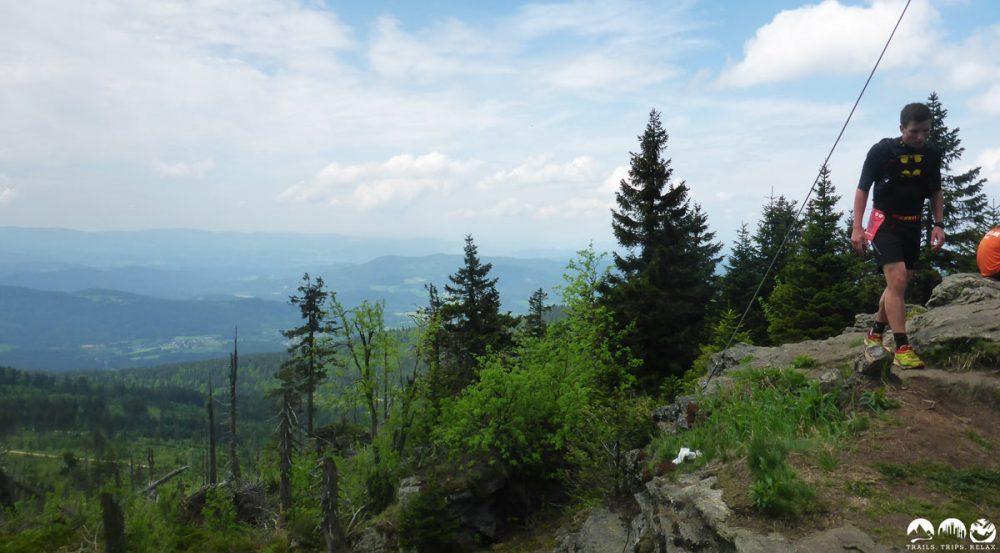 Blick über den Bayerwald vom Kleinen Arber