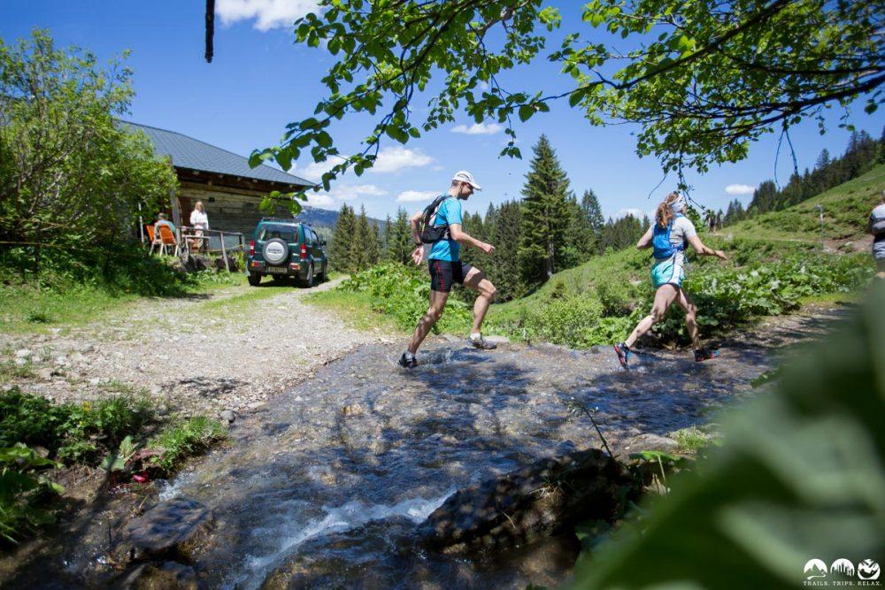 Bachquerung im Schwarzwasserbachtal