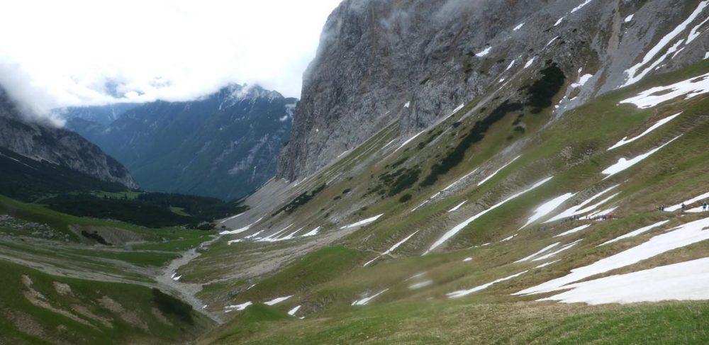 Downhill vom Scharnitzjoch