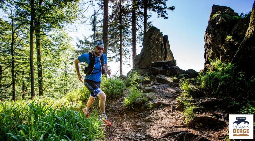 Florian ist fit und rennt die Uphills am Kandelfelsen