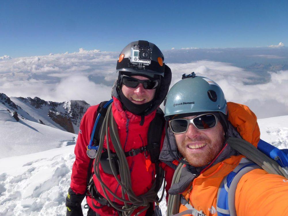Gipfel-Selfie auf dem Mont Blanc