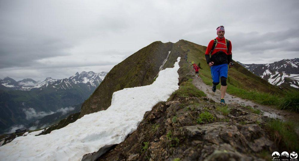 Björn auf dem Trail zwischen Fellhorn und Schlappoltkopf