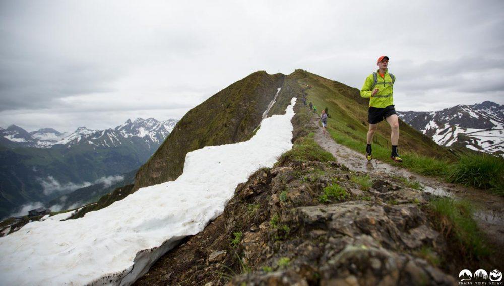 Trail zwischen Fellhorn und Schlappoltkopf