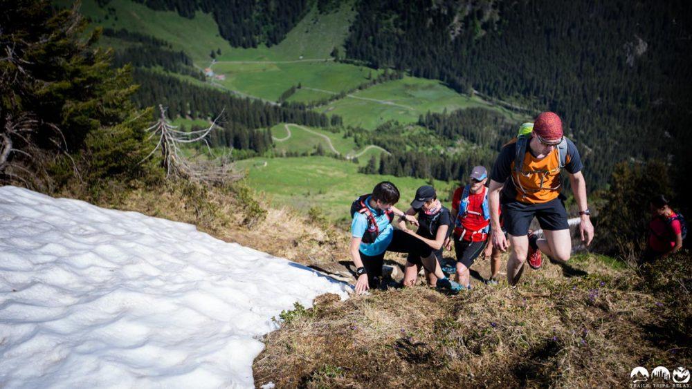 Steiler Aufstieg über dem Schwarzwasserbachtal