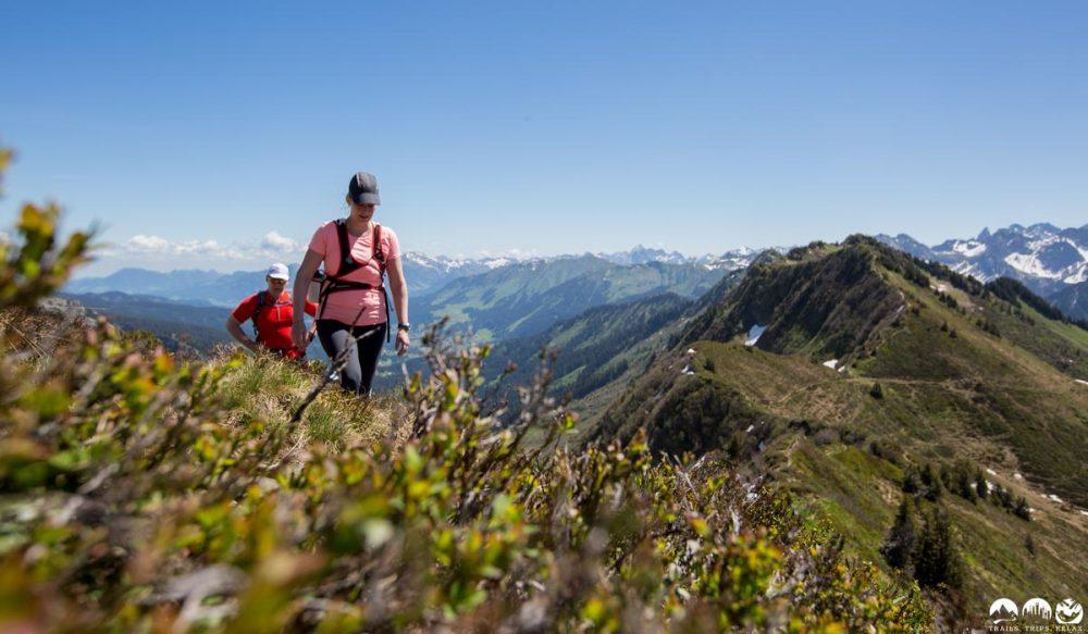 Wiesen Trail auf den Ochsenhofer Köpfenq