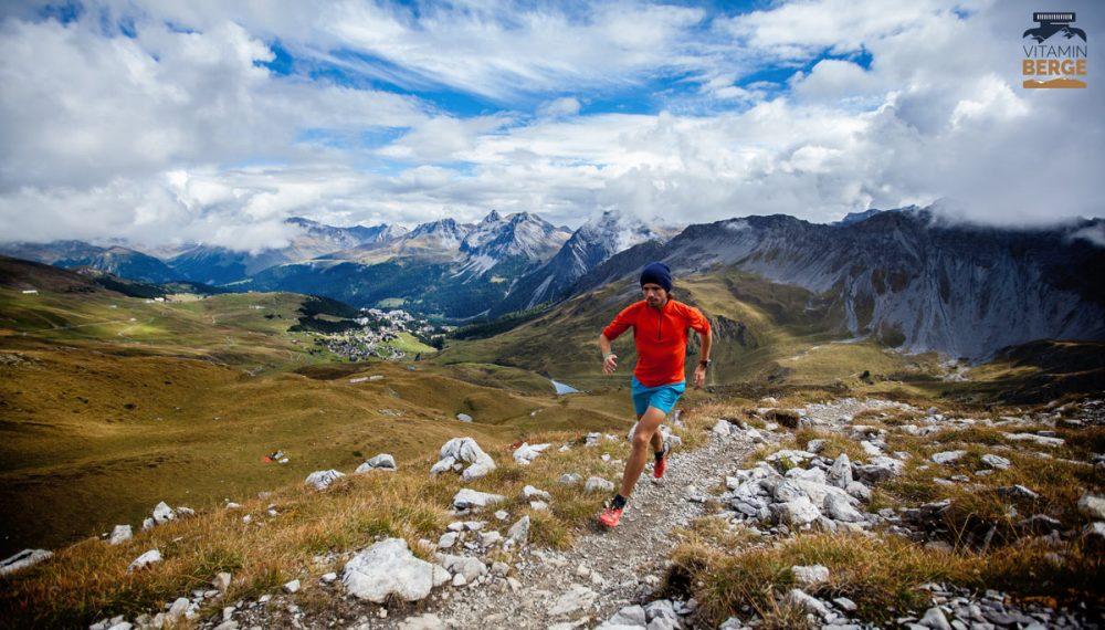 Florian auf der Strecke des Arosa Trailrun an der Hörnlihütte