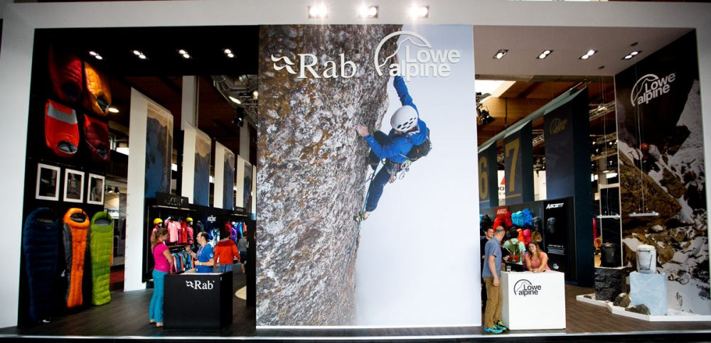 Rab / Lowe Alpine Messestand