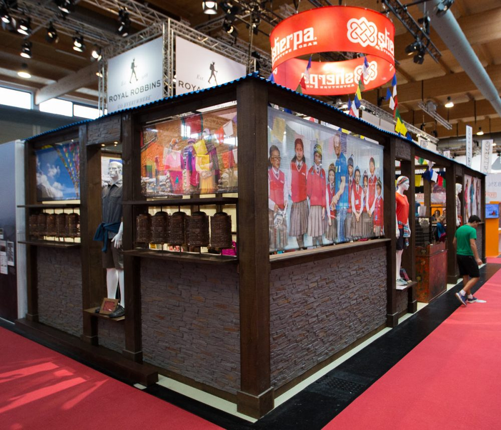 Sherpa Adventures Gear Messestand