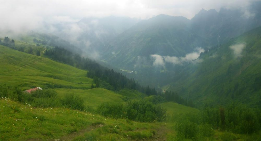 Schluß-Downhill nach Baad