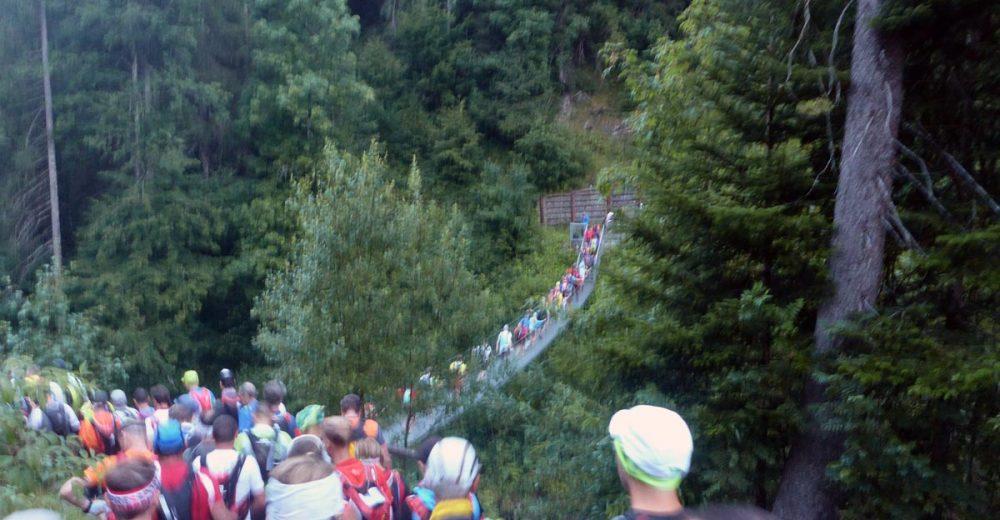 Über die Breitach-Schlucht auf der Hängebrücke