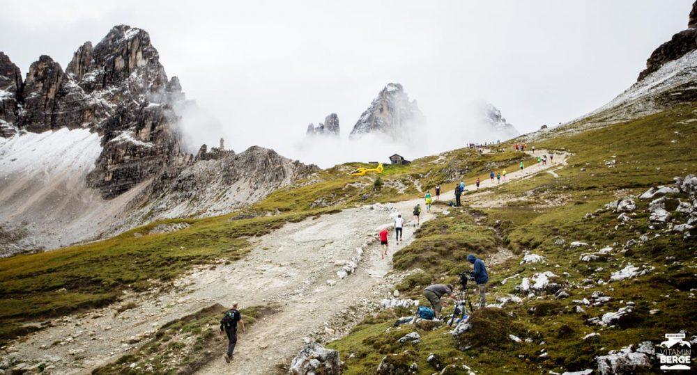 Das Läuferfeld des Drei-Zinnen-Lauf