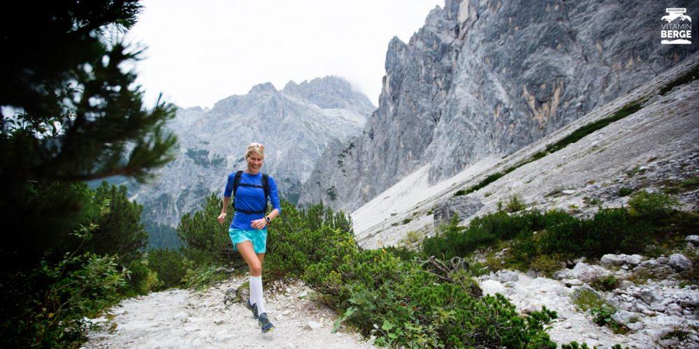 Judith kämpft sich von der Talschlusshütte hoch zur Drei-Zinnen-Hütte