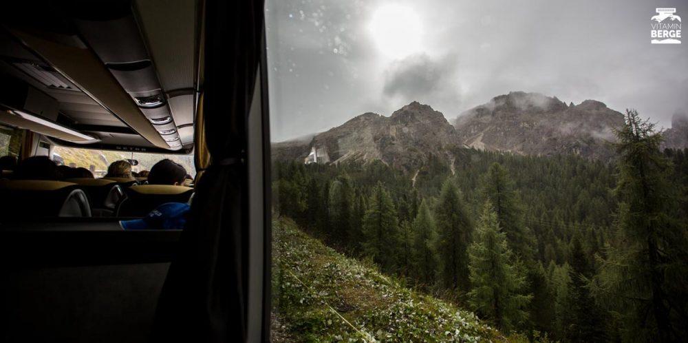 Fahrt mit dem Shuttle-Bus zur Auronzo Hütte