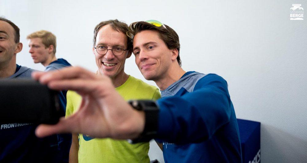Selfie mit Dieter Baumann. Oder Baumann mit Philipp? Famous!