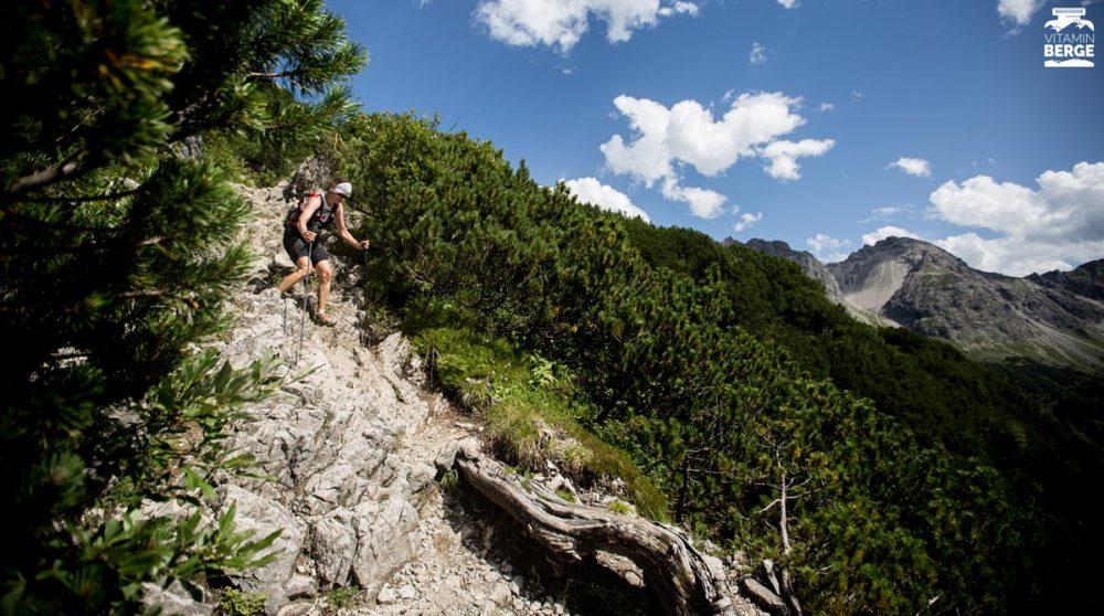 Steil, steinig und heiß - das war der Walser Trail
