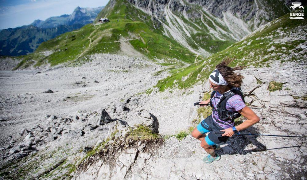 Im Downhill zur Fiderepaßhütte