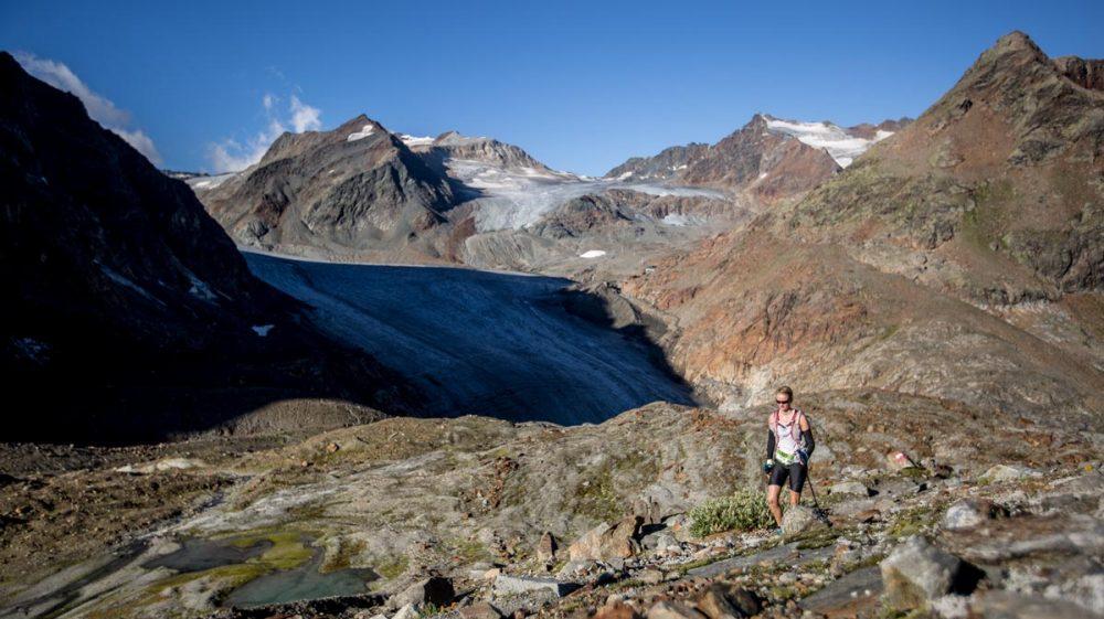 Oberhalb vom Gletscher. Die schwierigsten Passagen sind gemeistert.