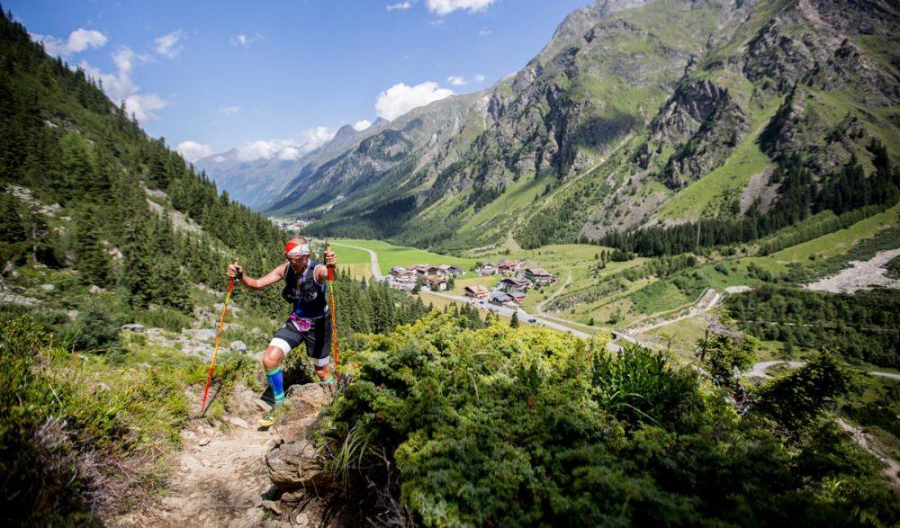 Uphill von Mandarfen zum Rifflsee.