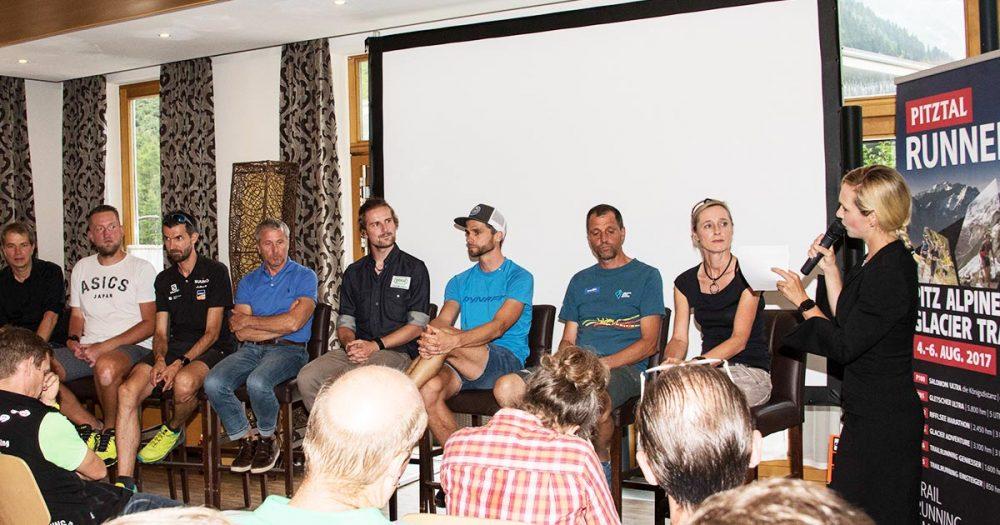 """022: """"Höher, schneller, weiter"""" Podiumsdiskussion beim Trailrunning-Symposium Pitztal"""