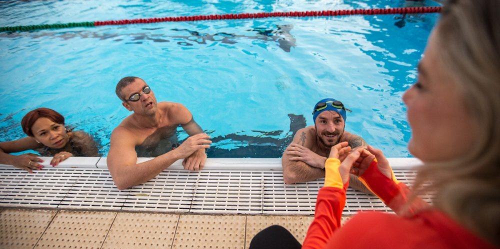 Schwimmtraining mit Antoniette Longree.