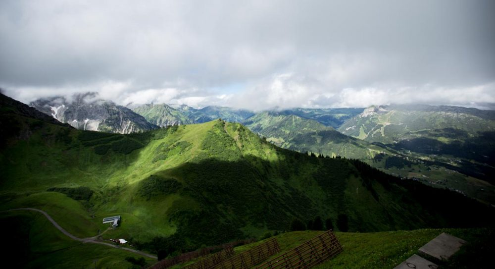 Ausblick von der Kanzelwandbahn Bergstation