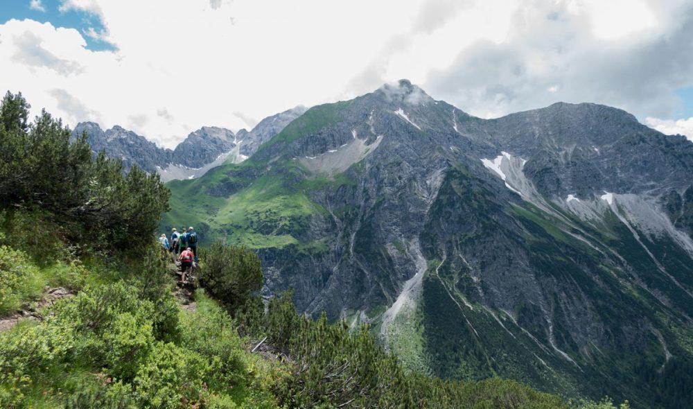 Bergkulisse des Kleinwalsertals