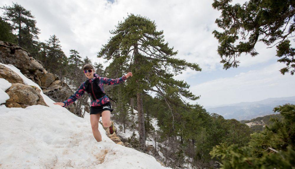 Christiane auf dem Trail.