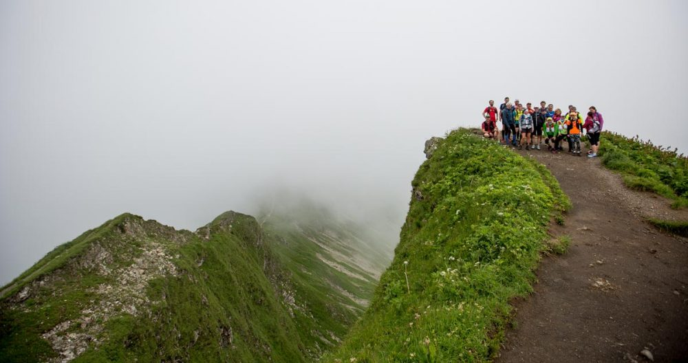 Gruppenbild auf dem Gipfel des Fellhorn.
