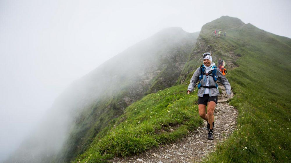 Trail auf dem Grat beim Fellhorn.
