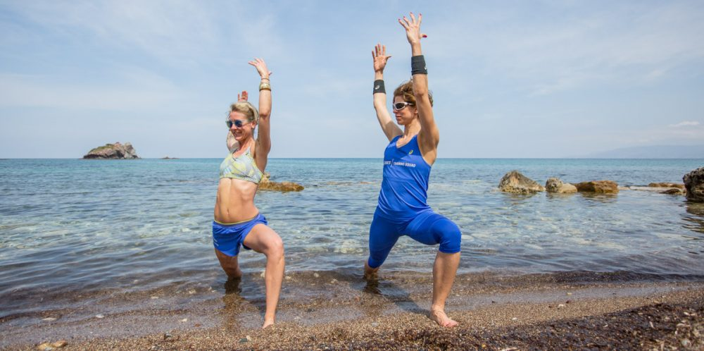Fitness-Grazien im Meer.