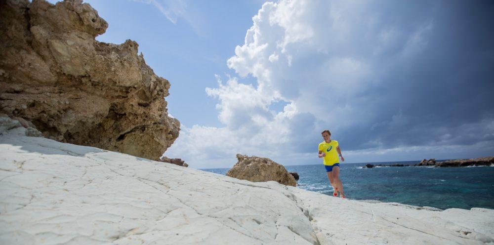 Rieke beim Shooting am weißen Fels