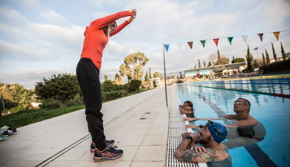 Schwimmtraining mit Antoniette Longree