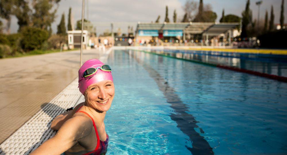 Silvia beim Schwimmtraining