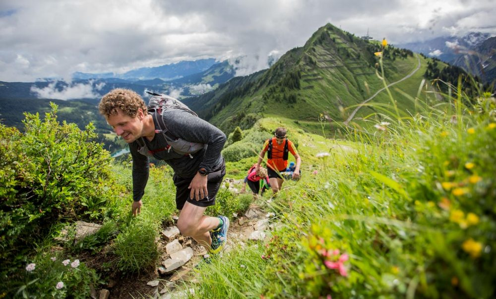Andreas im Uphill vor dem Walmendinger Horn