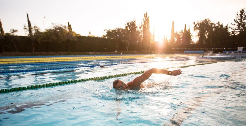 Schwimmeinheit am Morgen