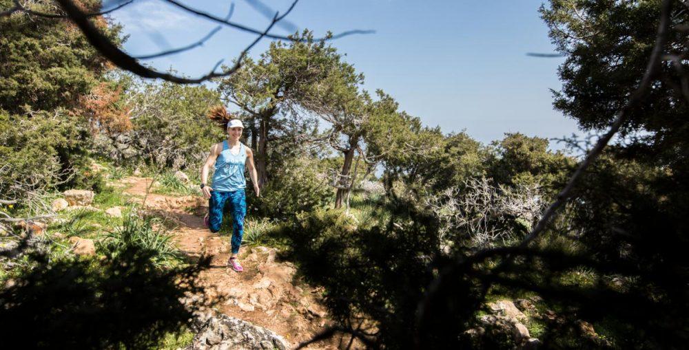 Theresa beim ersten Trailrun