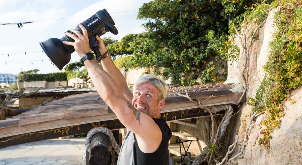 Tobias macht das Kamerakind für Isaak