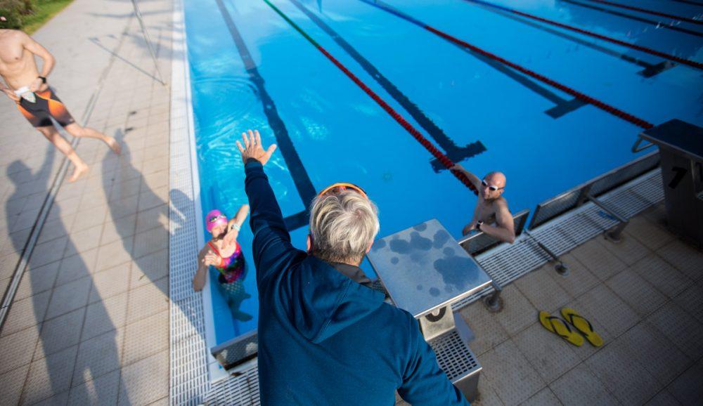 Schwimmtraining mit Tobias