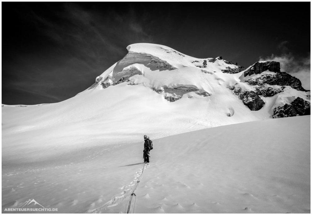 Aufstieg zum Gipfel in der Cordillera Blanca