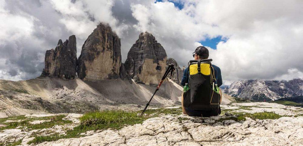 Alex an den Drei Zinnen in Südtirol