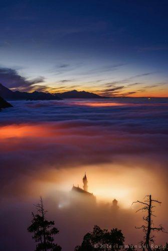 Neuschwanstein im Hochnebel - sein wohl am meisten geklautes Bild