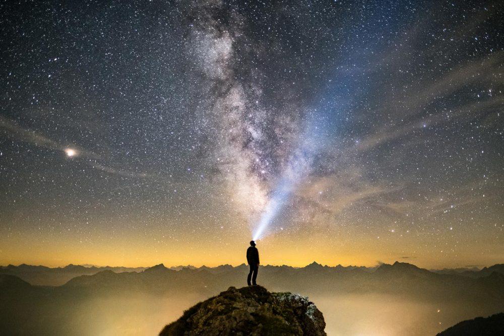 Nachts auf dem Gipfel