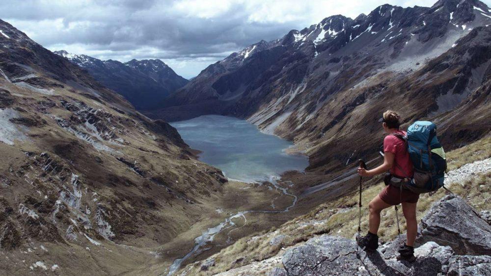 Bettina unterwegs in Neuseeland