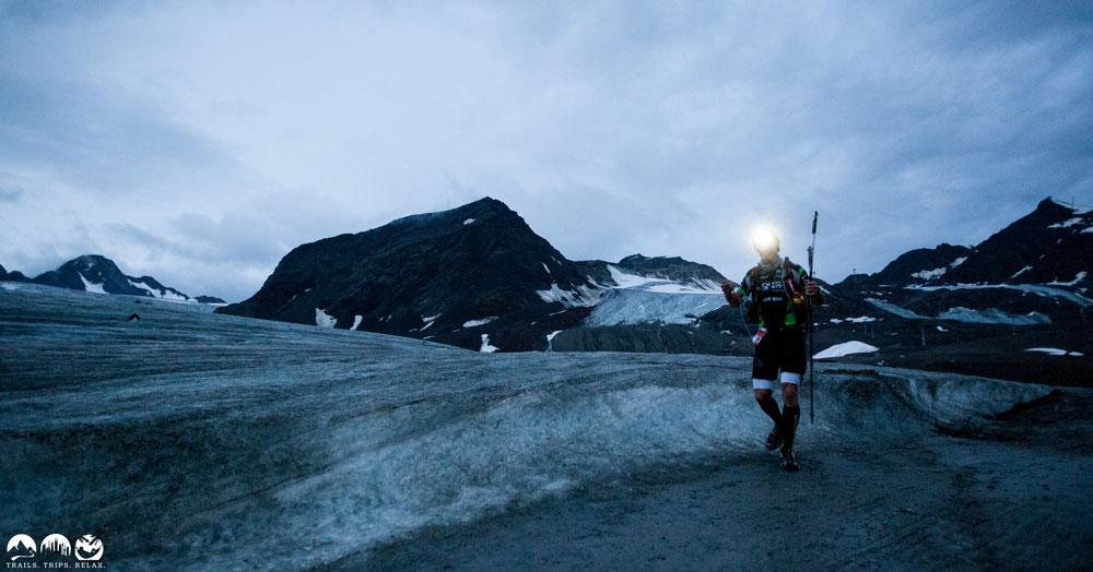 Pitztal-Gletscher bei Nacht