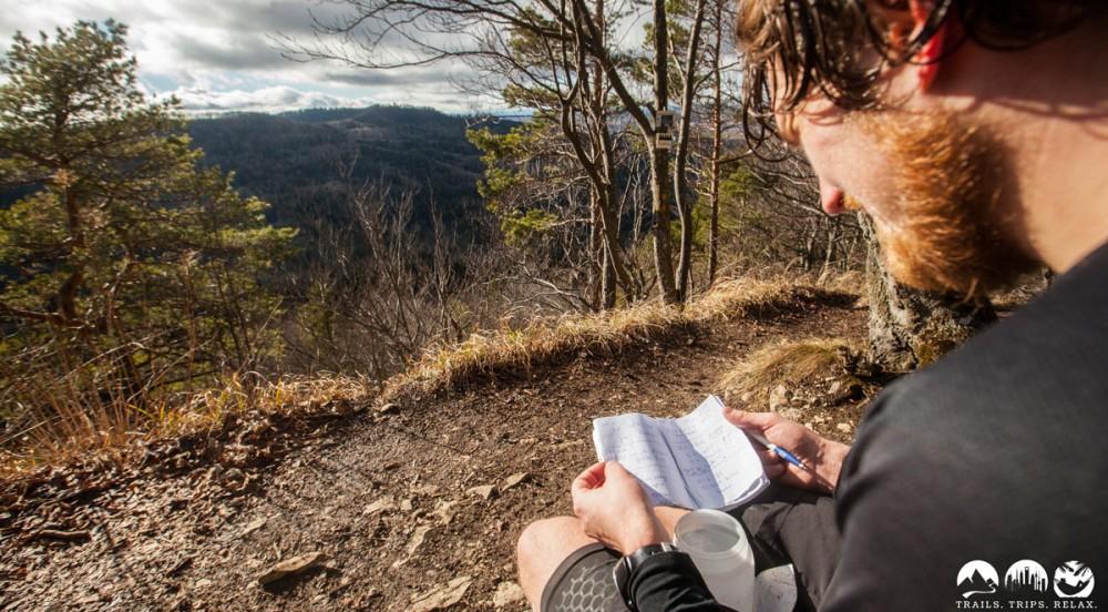 Eintrag in das Hausberg-Buckelrace-Gipfelbuch